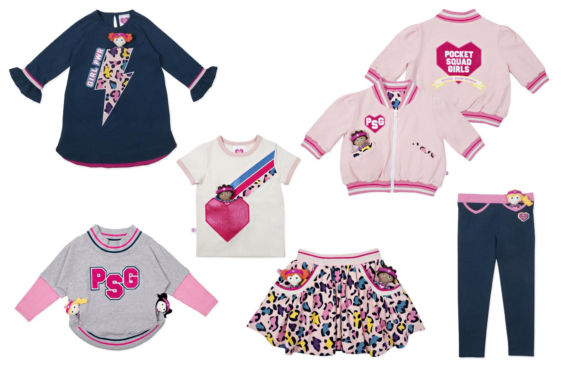 Pocket Squad Girls Clothing Range