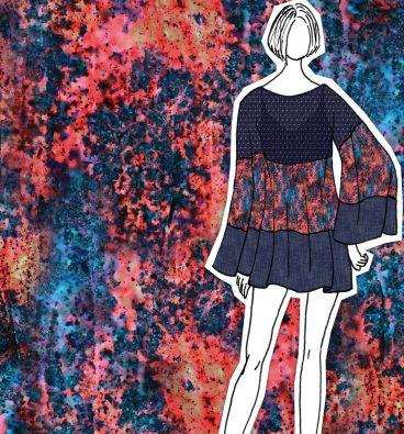 Summer Rain Textile Print by Tamara Design Services